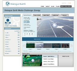 Dialogue Earth Media Challenge - homepage